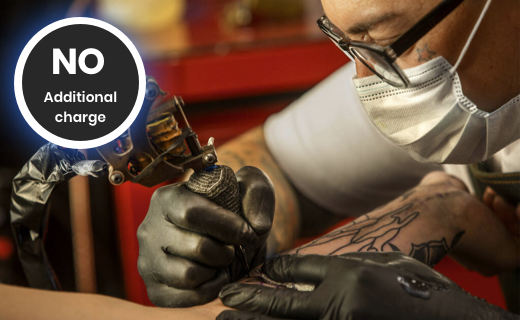 No additional charges for tattoo at home